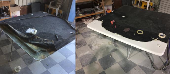 Fiberglass repairs to ute canopy