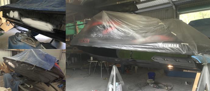 Jet ski repairs and respray