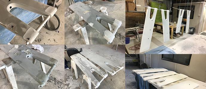 Centerboards fiberglass repair