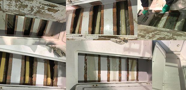 Boat stiffeners repair