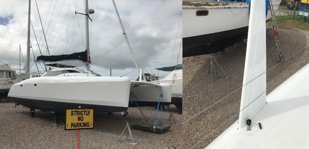 Catamaran repairs and respray