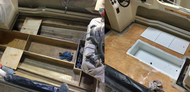 Boat hull rebuild