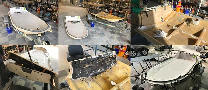 Rib Fiberglass repairs